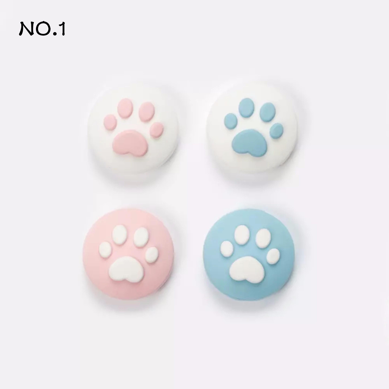 샤인 당일배송 닌텐도 스위치 조이콘 스틱커버 신형 보호캡 고양이발, 4개입, NO1