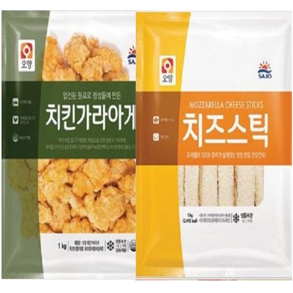 사조 치킨가라아게 1kg+치즈스틱 1kg, 2개, 1kg