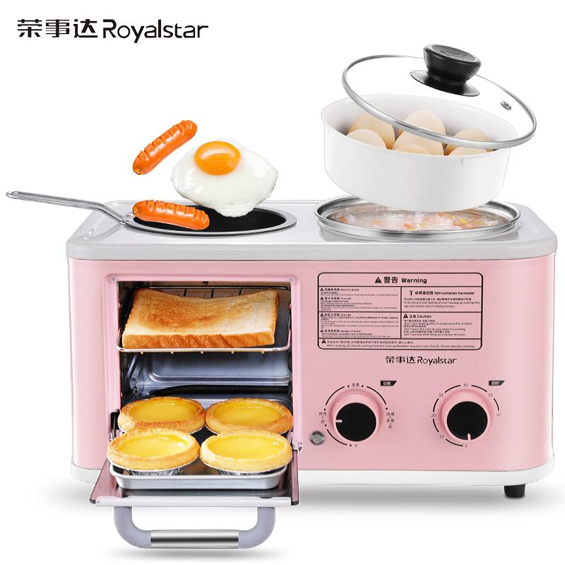 토스터기 Royalstar국다용도 아침기계 4개의기능을하나로 토스트 용바베큐 샌드위치기 소형, 기본