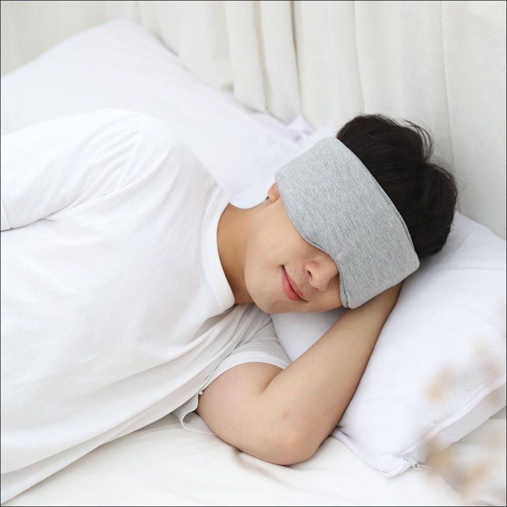 꿀잠나라 프리미엄 암막 순면 숙면 수면안대+귀마개세트
