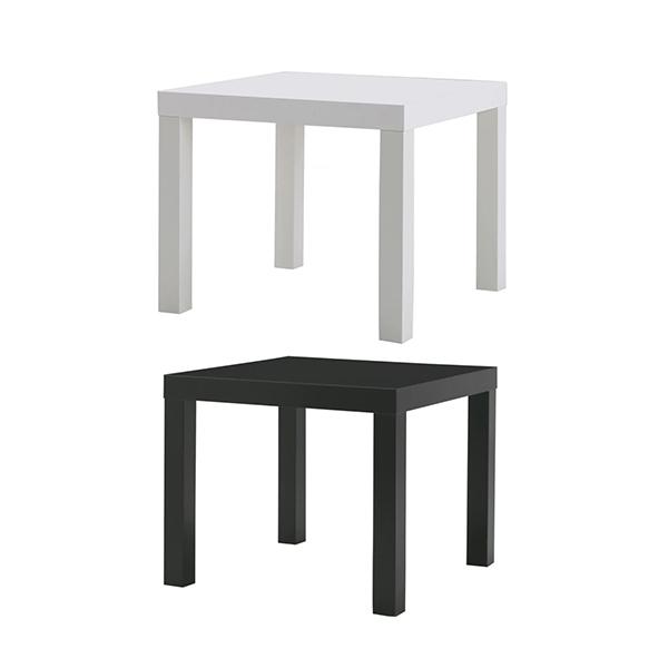IKEA 이케아 보조테이블 55x55 cm LACK 라크 안전포장, 블랙