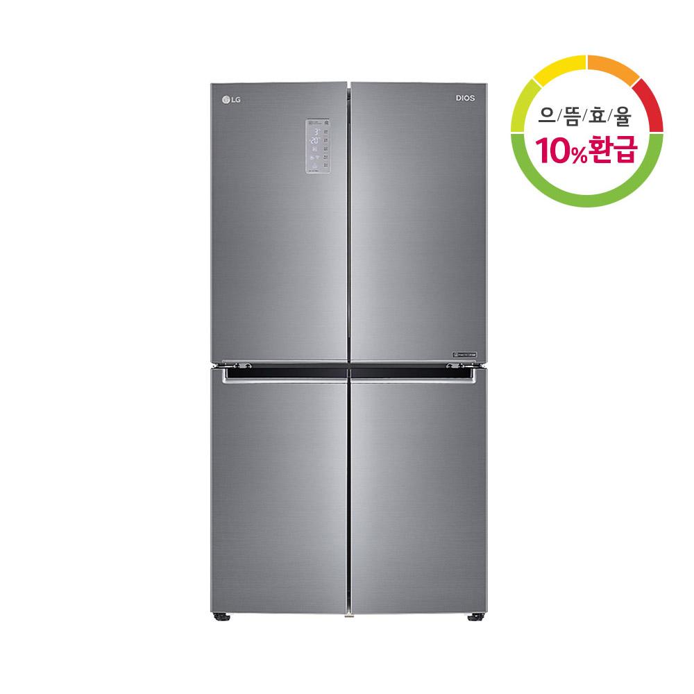 전국무료배송 LG 디오스 F871S11E 상냉장하냉동 4도어 냉장고 1등급, F871S11E(물류잭배송설치)