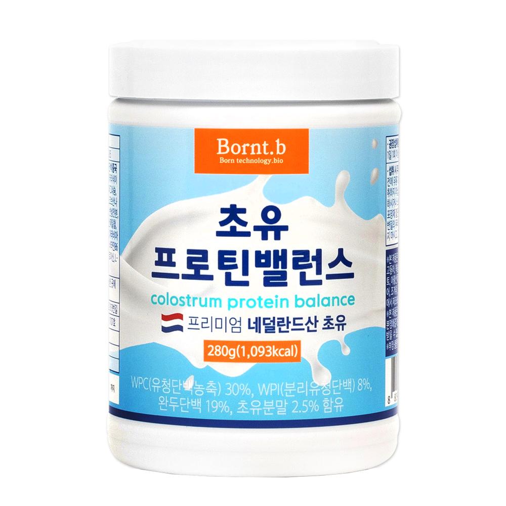 본트비 초유 단백질 유청단백 분말 네덜란드산 프로틴 보충제 쉐이크 파우더 가루, 280g, 1박스