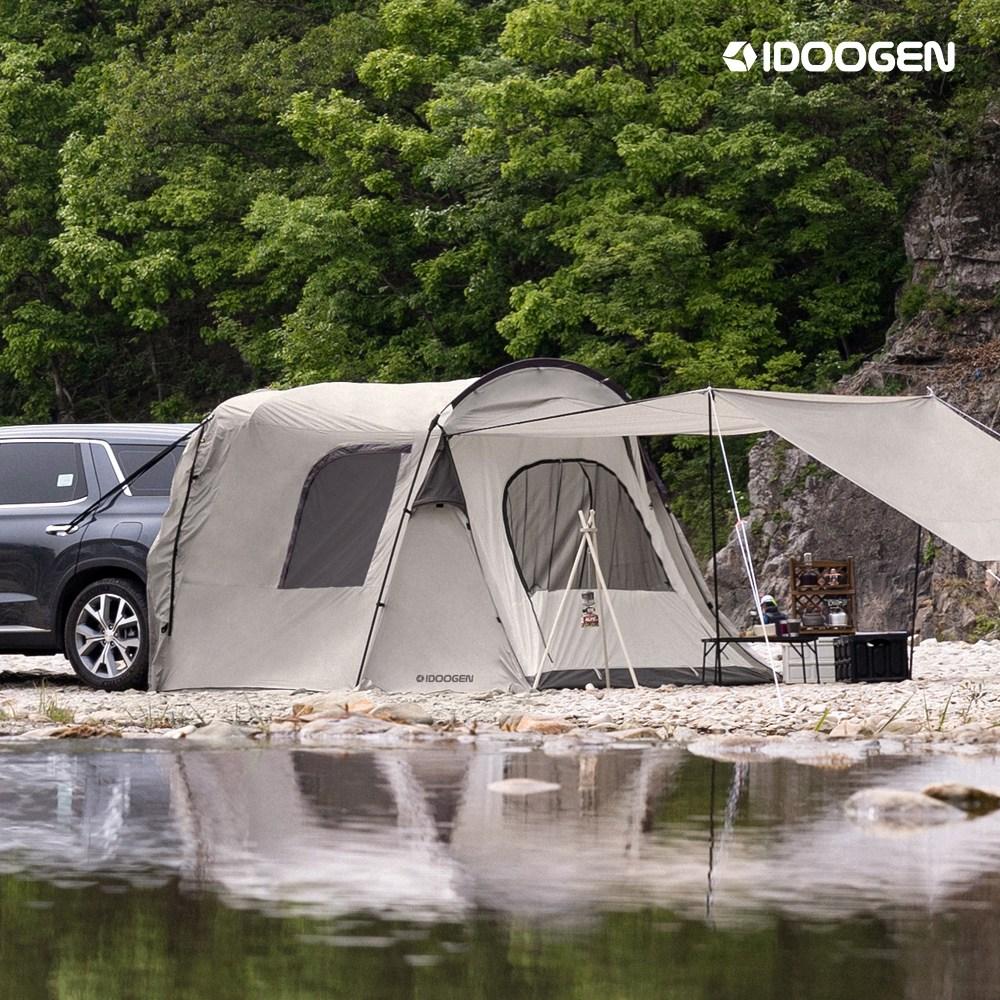 아이두젠 A3 쉘터 도킹 카 차량용 차박 텐트, A3 + 투어링패키지 (라이트그레이)-15-5525194388