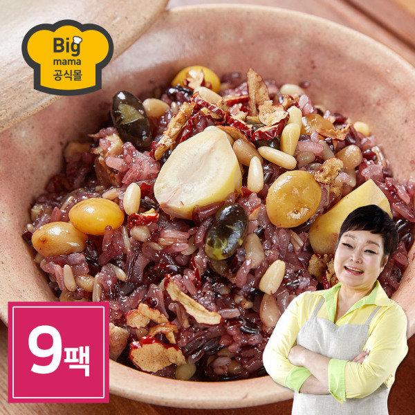 [빅마마 공식몰] 빅마마 이혜정의 꽉찬 수제 영양밥 9팩 (120g x 9개), 상세 설명 참조