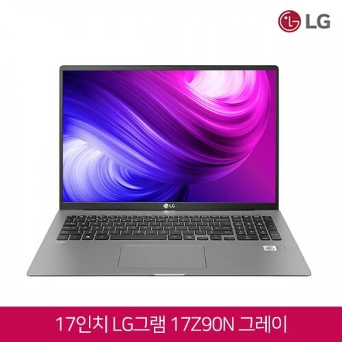 LG전자 10세대 코어i7 윈10탑재 17형 LG 그램 2020년형 17Z90N 그레이 정품키스킨 증정, 16GB, SSD 512GB, 포함