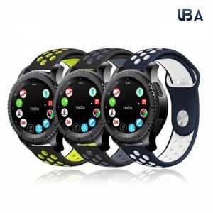 아나시스 UBAcc 갤럭시기어 스포츠 쿨워터 스포츠 밴드 스트랩 시계줄 전기종호환 스포츠, 20mm, 화이트핑크