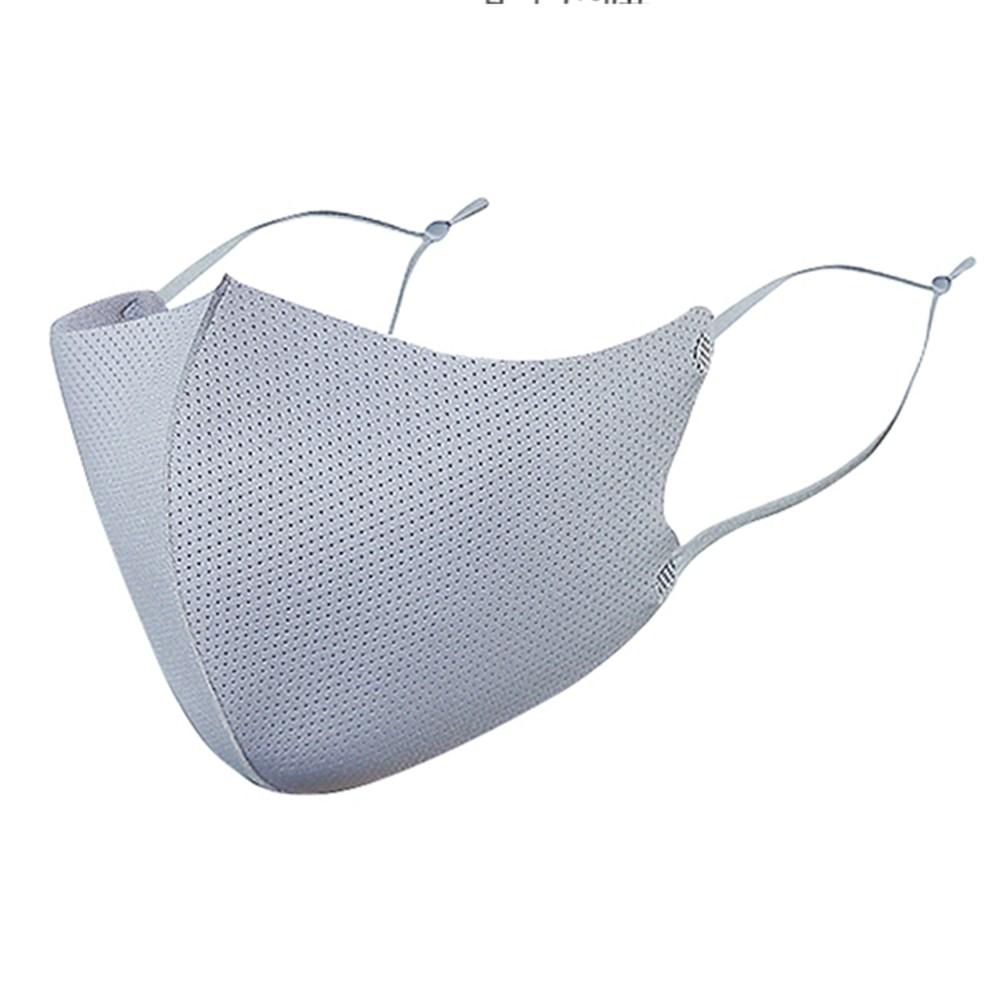 여름 숨쉬기 편한 끈조절 마스크 메쉬 마스크, 회색