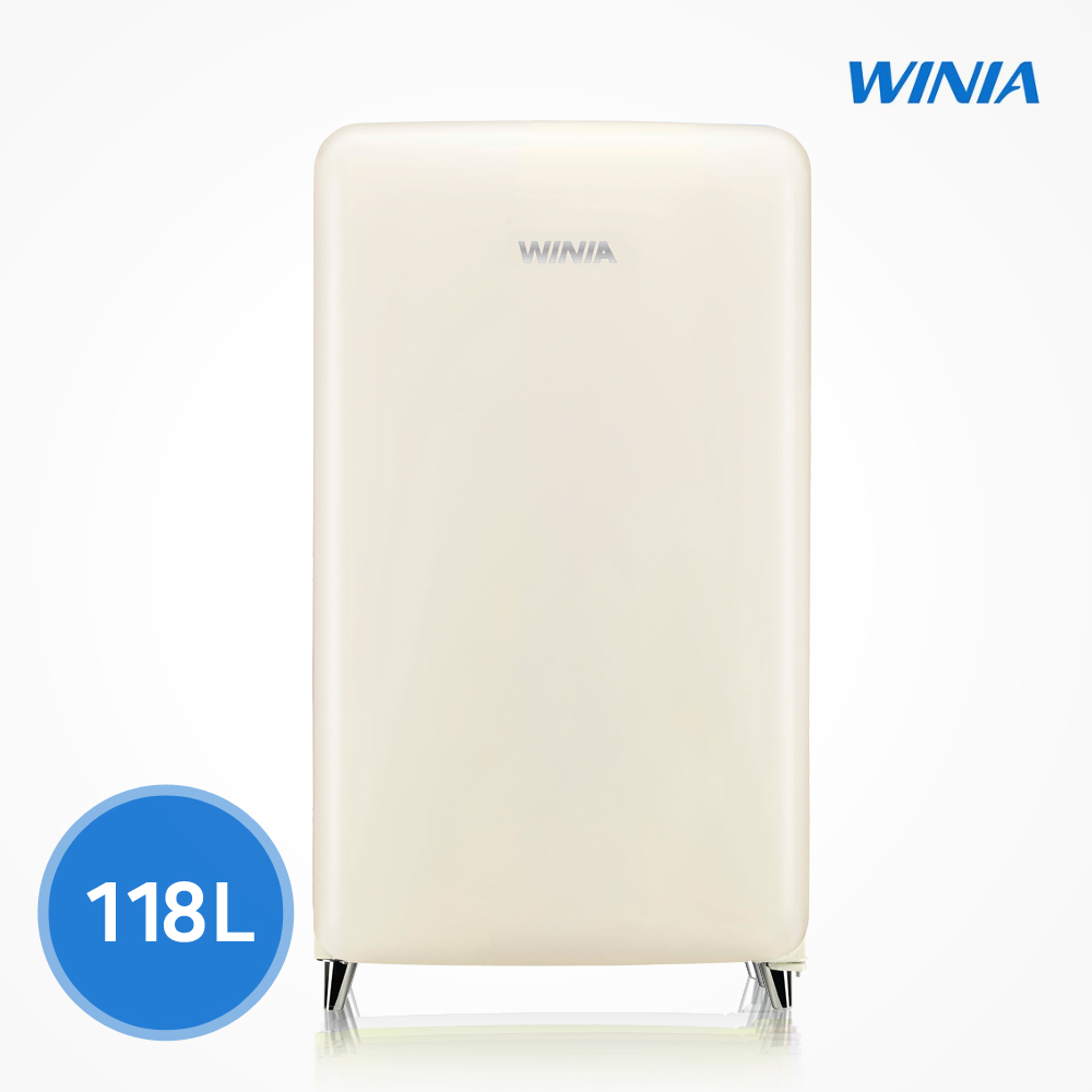 위니아 칵테일 프리미엄 소형 냉장고 (118L) ERT118CC, 크림
