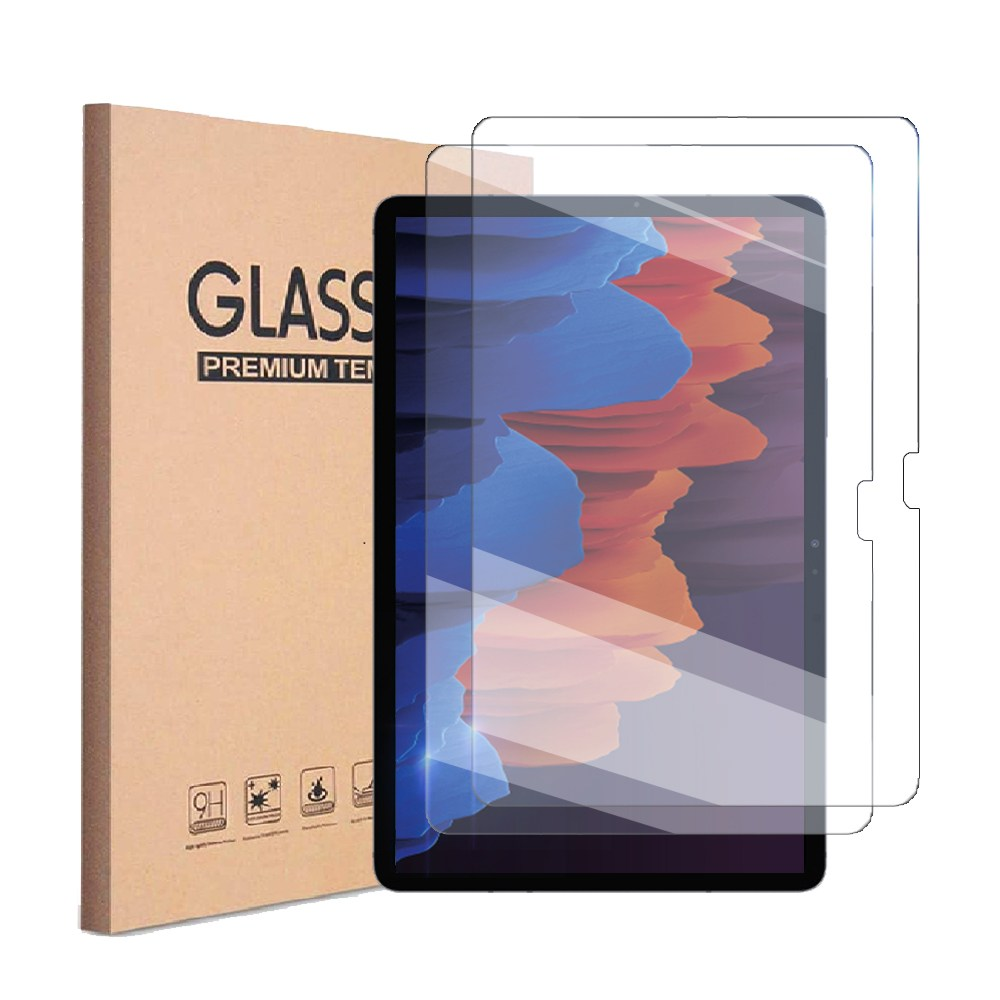 1+1 갤럭시탭S7 플러스 12.4 9H강화유리 액정 보호필름2매 SM-T970 T975 T975N T976 T976N, 강화유리 액정 필름 1+1 (2장)