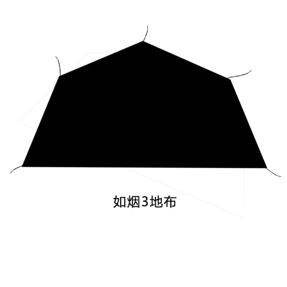 겨울 감성 캠핑 초경량 티피 텐트 차박 글램핑 화목난로 굴뚝 텐트, B 바닥깔개( 3-4인용)