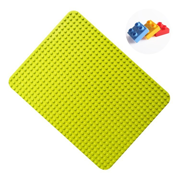 토이다락방 레고 듀플로 대형 블럭 놀이판 듀플로판 + 발판 1개 증정, 연두색