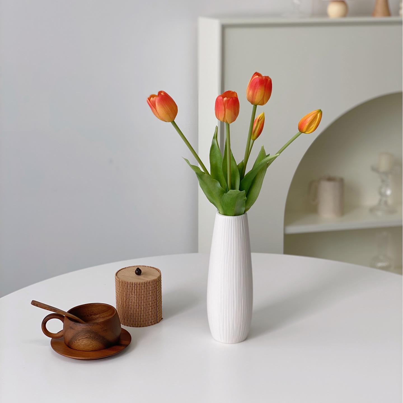 영이오브제 프리미엄 망고튤립조화 8color, 오렌지