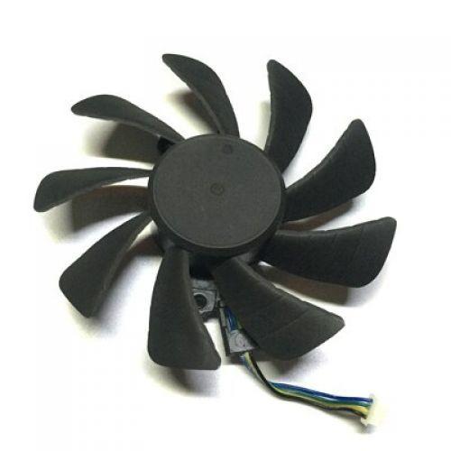 [해외] GTX970 GTX980 GTX1070 GTX1080 VGA GPU 쿨러 그래픽 카드 팬 4PIN ZOTAC 지포스 GTX 970980TI10701080 비디오 카드 냉각, 1Piece middle fan