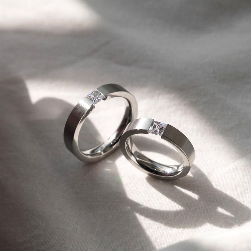 LIKEY [커플링 우정링] 다이아나 반지 (글자 이니셜각인가능)