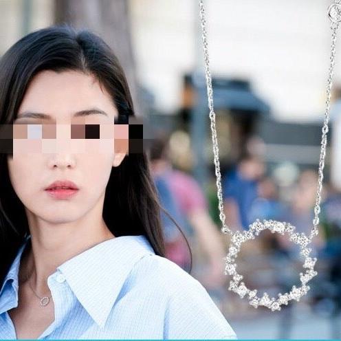 영쥬얼리 N0066 [925 실버] 전지현 스톤헨지 목걸이 링 은목걸이 실버목걸이