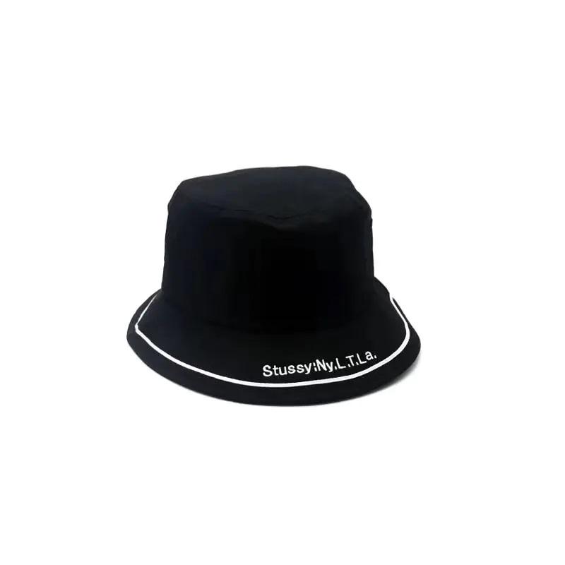 스투시 STUSSY NY 버킷 햇 YF30 사파리 모자 자수 레터링 남녀공용 커플 벙거지