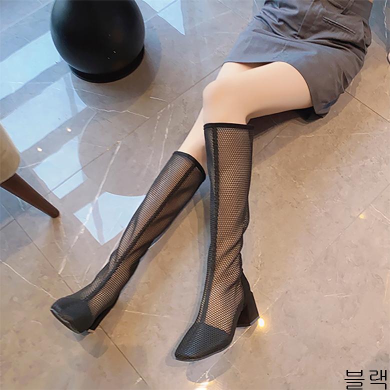 굿데이 컴퍼니 여성 데일리 여름 패션 워커 부츠 청키힐 장화 lMDX02