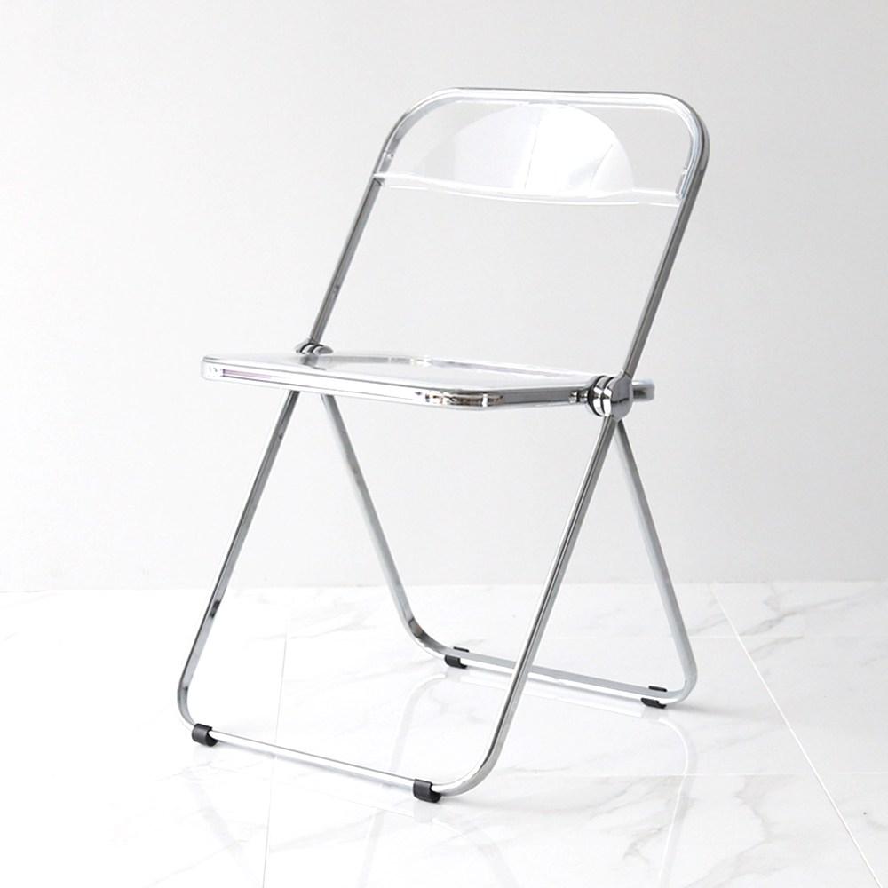 영가구 베가 플리아체어 카페 투명 접이식 인테리어의자