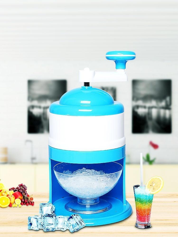 눈꽃빙수기계 가정용기계 수동 빙수 소형차, T04-수동 빙수기 한개세트(정교한 작은그릇)