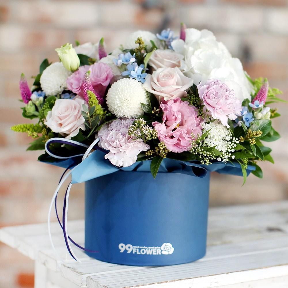 99플라워 2시간 당일 꽃배달서비스 꽃바구니 꽃다발 생화 장미 생일 꽃 선물, 03.[ST-B328]아름다운혼합꽃상자
