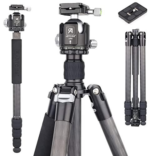탄소 섬유 삼각대 단일 커버 69.3 44mm 낮은 키 볼 헤드 10 층 탄소 섬유 다리 튜브 슈퍼 안정 DSLR 카메라 비디오 카메라 (AS70C) (70), 70