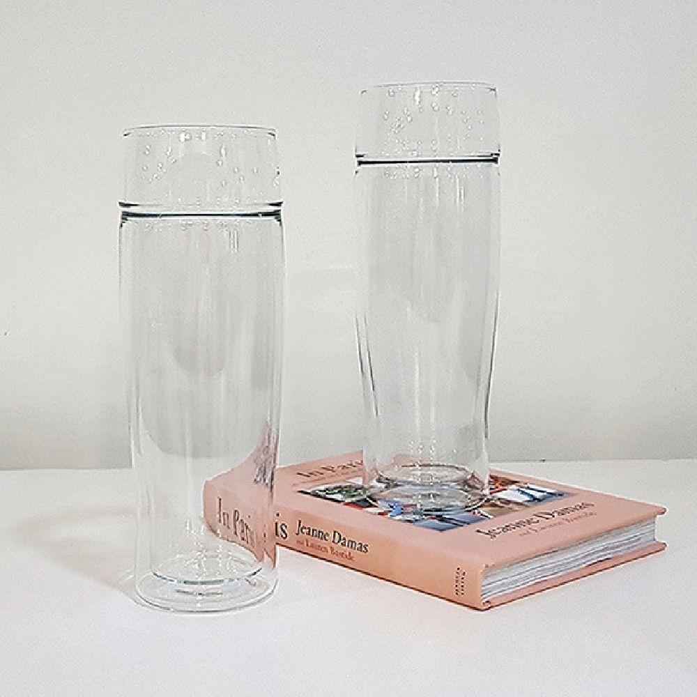 시맥스 내열 유리 이중 맥주잔 물컵 A9D 500ml 2P, 2피스, 본상품선택