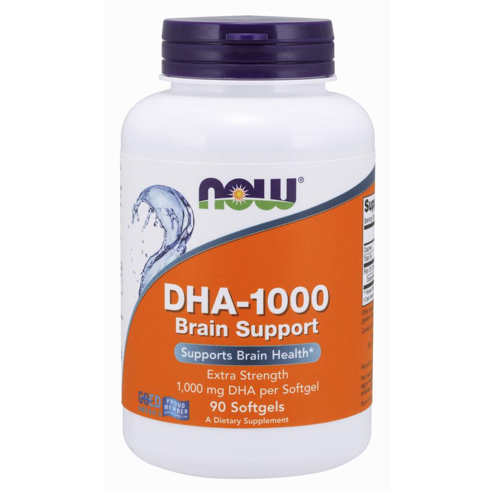 나우푸드 DHA-1000 브레인 서포트 1000mg 소프트젤 글루텐 프리, 90개입, 1개