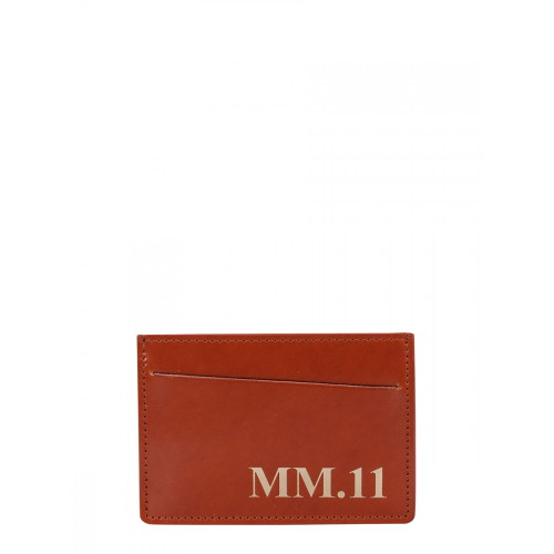 메종 마르지엘라 [루플랫] 남성 지갑 카드 홀더 위드 로고 S35UI0449_P0215H8308 BROWN