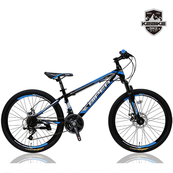 K2BIKE 2021 MTB자전거 메커드SFD 24인치 21단 디스크 MTB 자전거, 메커드SFD 24인치 블랙+블루 조립+사은품B