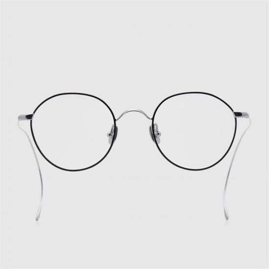 [하프클럽/블루엘리펀트]ORA silver-black 안경 남자 베타 티타늄 여자 동그란