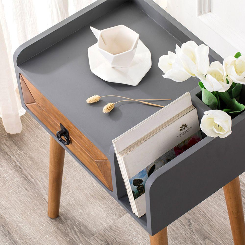 북유럽 심플한 침대 협탁 테이블 간단한 침실 머릿장, 쿠팡 조립_오른쪽 서랍식