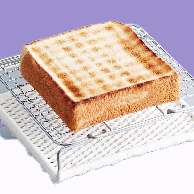 CUBE 원목 가스 버너 바람막이 랜지 글램핑 캠핑 큐브, 빵 굽기 그물 165 * 165MM