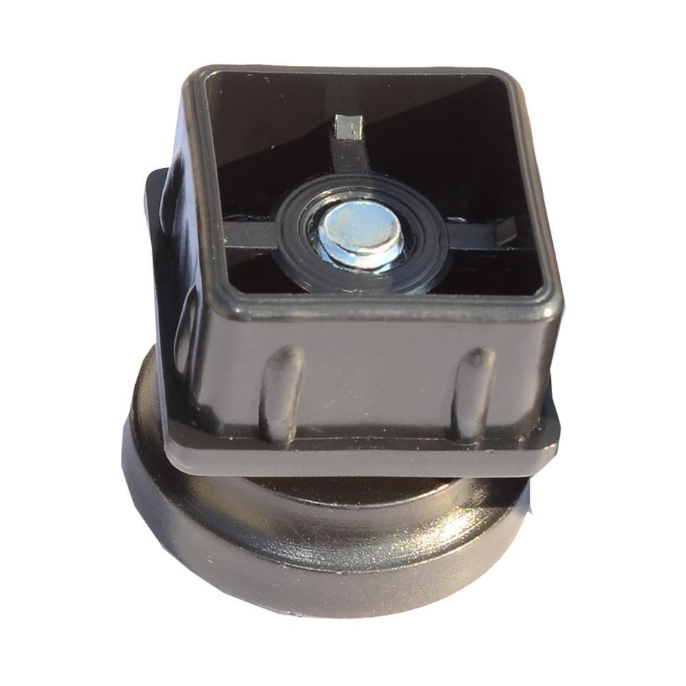 엠테크 각파이프 높이조절발 책상받침대 가구받침 조절발 DIY가구부품, 40x40mm