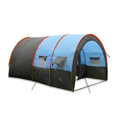 차박텐트 허브 돔 쉘터 큐브 도킹텐트 거실 에어돔, 터널 텐트 블루 그레이