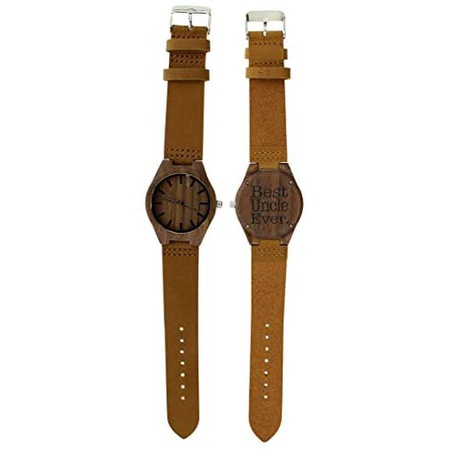 ThisWear Favorite Uncle Gifts Best Uncle Ever Gifts for Uncle Birthday Gifts Engraved Wooden Watch