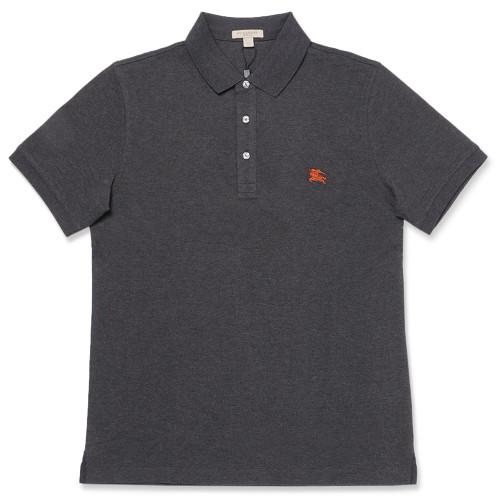 [버버리] 티셔츠 휠러 코튼 남성 폴로 차콜 4055127