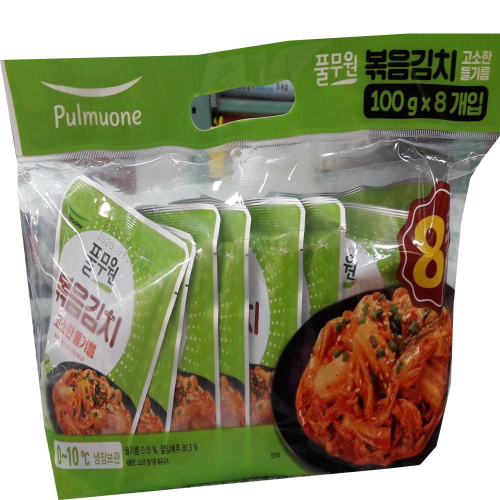 풀무원김치 풀무원 볶음김치100g X 8입 아이스포장무료, 8개입, 100g