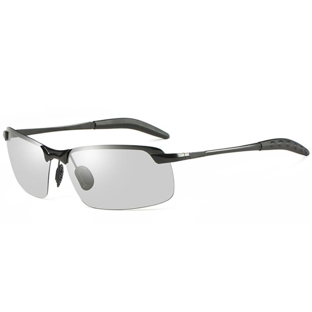 QueenZ 변색 편광 패션 미러 오버사이즈 선글라스