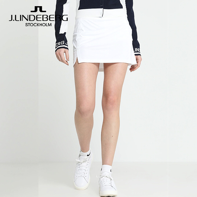 제이린드버그 애밀리 여성 골프 스포츠 스커트, White