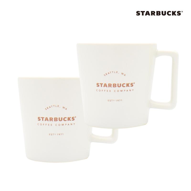 스타벅스 시애틀 머그컵, 1개, 시애틀 화이트+시애틀 화이트