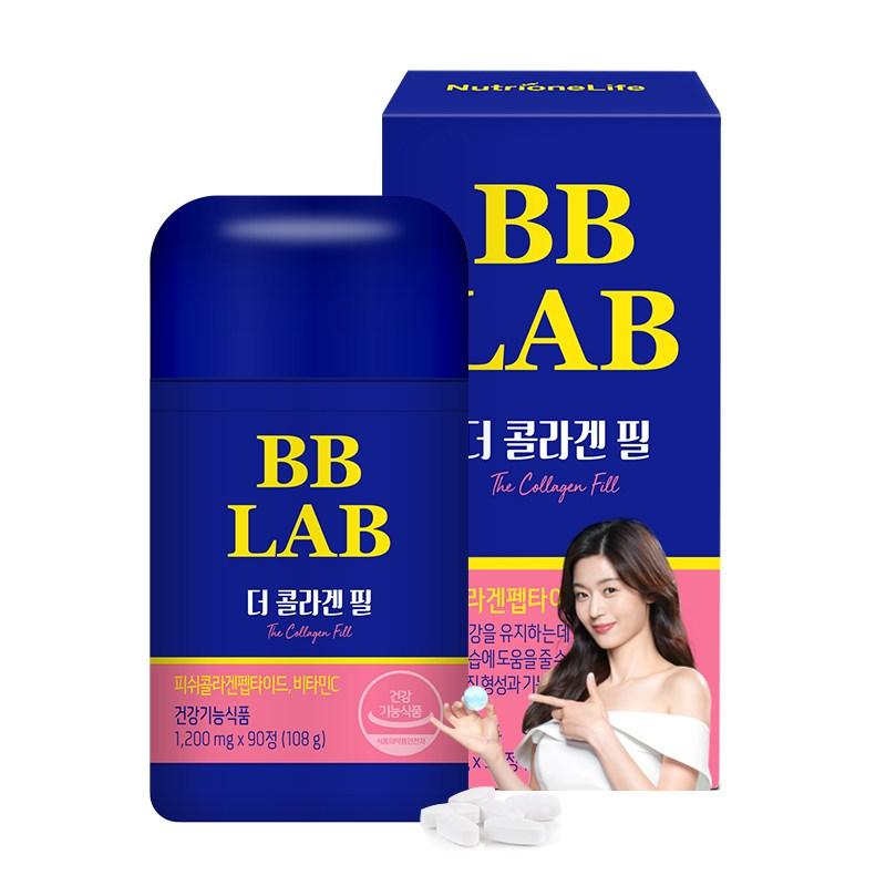 뉴트리원 건강기능식품 콜라겐 최대함량 3270mg 90정 피쉬콜라겐펩타이드 피부탄력 보습 먹는콜라겐 추천 비비랩 + 활력환, 1box