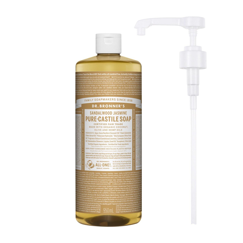 닥터브로너스 퓨어 캐스틸 솝 샌달우드 950ml + 전용펌프, 단품