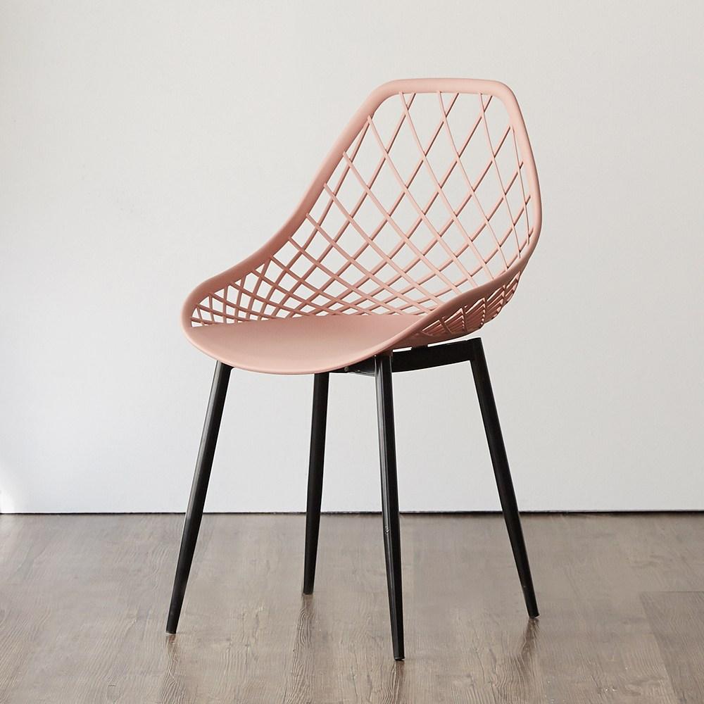 블루밍홈 유로인 식탁의자 거실 디자인 인테리어 카페 식탁, 인디핑크