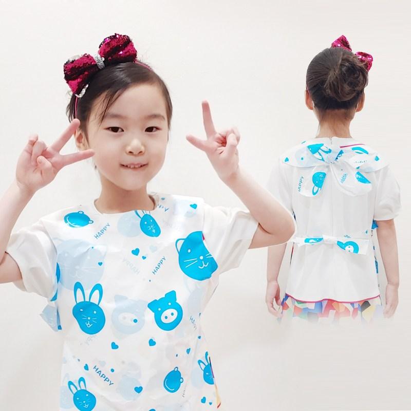 에버크린팩 어린이 일회용 앞치마, 1000매, 블루