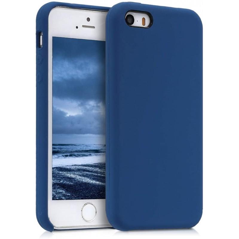 독일직수입 애플 아이폰 SE와 호환 kwmobile 슬리브 (1 세대 2016) / 5 / 5S - 휴대 전화 소매 고무 - 어두운 파란색의 휴대