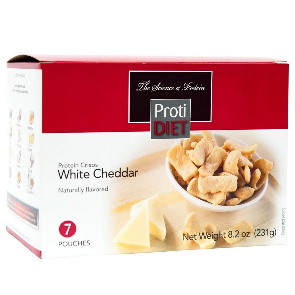 ProtiDIET ProtiDiet 단백질 칩 화이트 체다 (7 / 박스) 고 단백질 15g 저칼로리 낮은 설탕, 선택, 상세설명참조