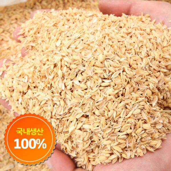 에코팜 국내생산 뽀송뽀송 왕겨 80L, 1포