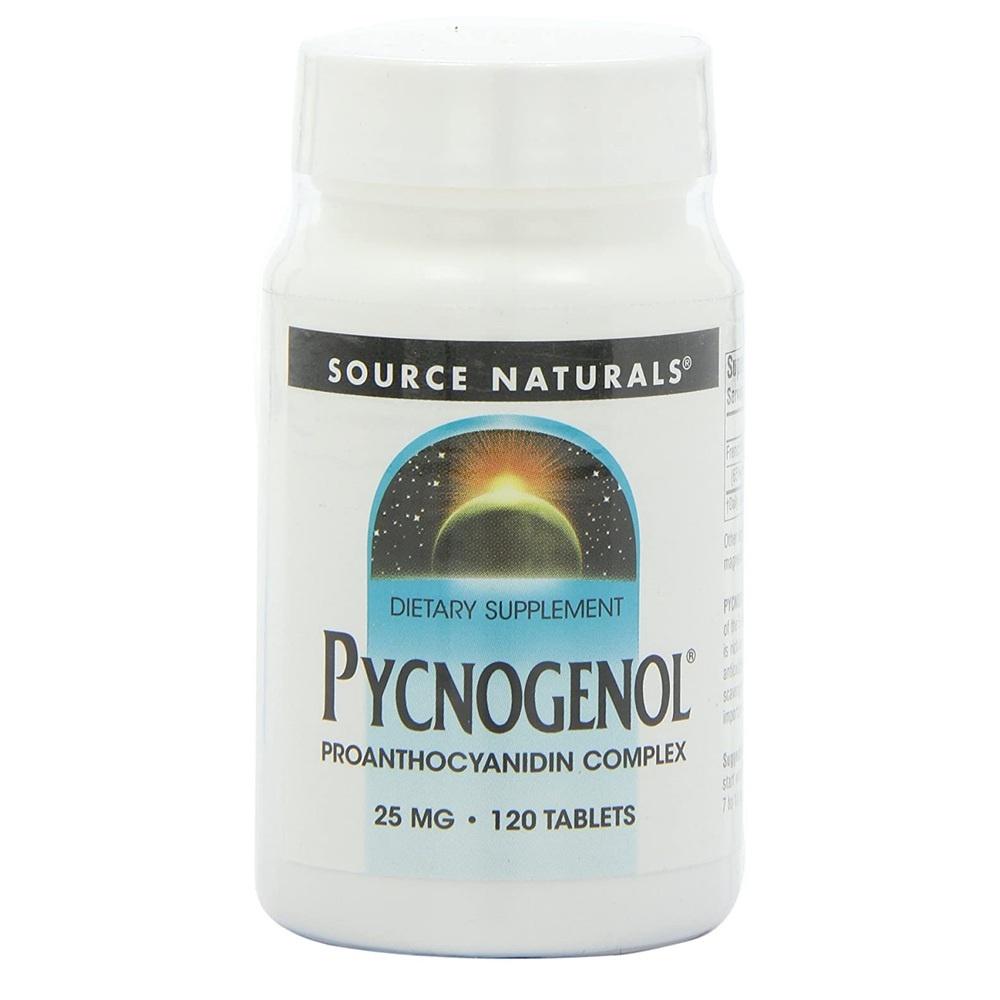 Source Naturals 소스내추럴스 피크노제놀 갱년기 영양제 Pycnogenol 25mg 120정, 0mm, 1개