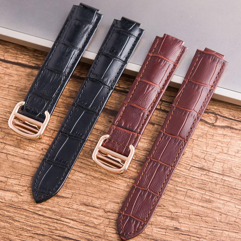 웨어러블디바이스액세서리 스트랩여자 가죽벨트 소가죽 손목시계 부속품 핑크 접이식버클 18mm, C01-18mm, T05-그린색